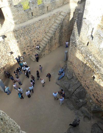 Pogled s kule na unutrašnjost utvrde