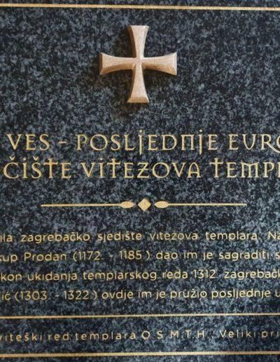 Spomen-ploča srednjevjekovnim templarima na zagrebačkoj Novoj Vesi